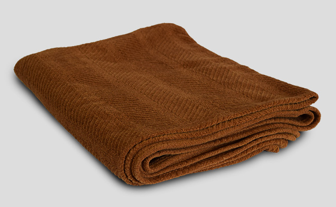 Organic Cotton Chenile Herringbone Weave Throw 2
