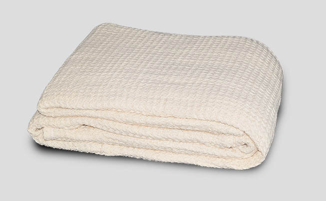 Organic Cotton Large Waffle Weave Blanket Healthy Choice