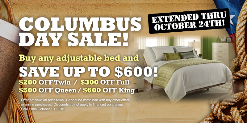 28 columbus day mattress sale rise and shine october 6